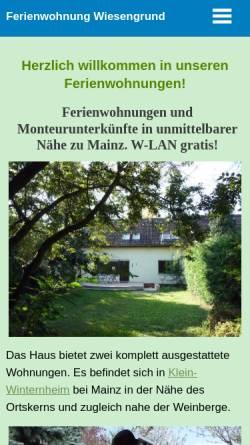 Vorschau der mobilen Webseite www.ferienwohnung-wiesengrund.eu, Ferienwohnung Wiesengrund