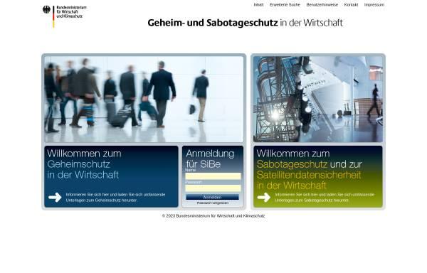 Vorschau von bmwi-sicherheitsforum.de, BMWI Sicherheitsforum - Bundesministerium für Wirtschaft und Technologie