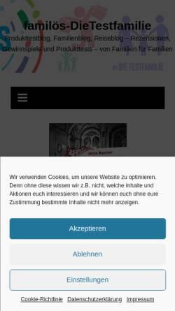 Vorschau der mobilen Webseite www.dietestfamilie.de, Die Testfamilie