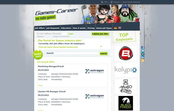 Vorschau von www.games-career.com, Games-Career