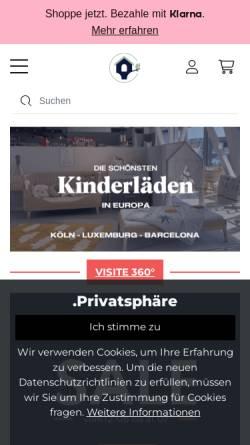 Vorschau der mobilen Webseite www.debreuyn-shop.de, De Breuyn Möbel GmbH - Kindermöbel mit System
