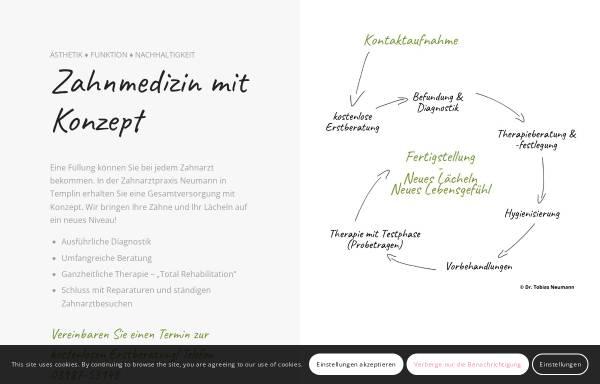 Vorschau von www.zahnarzt-templin.de, Zahnarztpraxis Erlo Neumann und Dr. Tobias Neumann