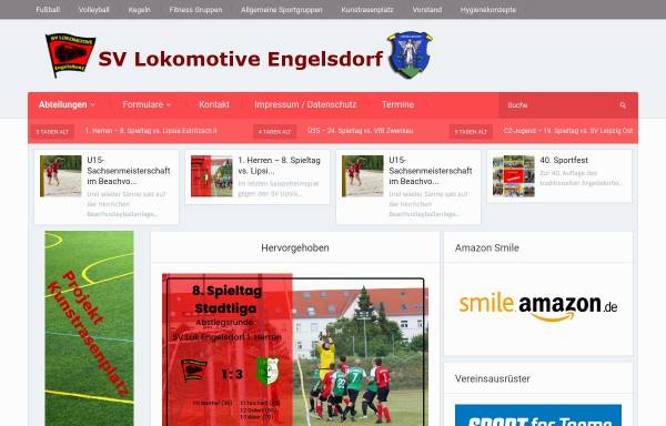 Vorschau von www.lok-engelsdorf.de, SV Lokomotive Engelsdorf