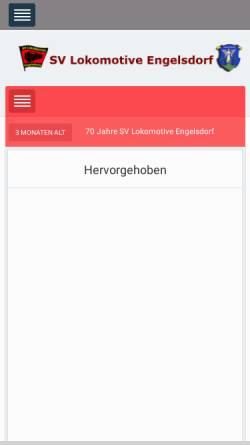 Vorschau der mobilen Webseite www.lok-engelsdorf.de, SV Lokomotive Engelsdorf