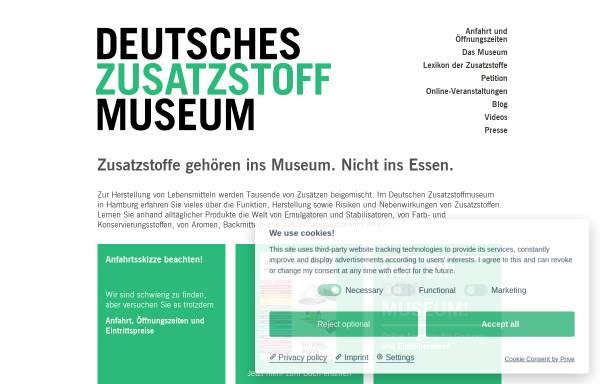 Vorschau von www.zusatzstoffmuseum.de, Deutsches Zusatzstoffmuseum - Hamburger Lebensmittelstiftung