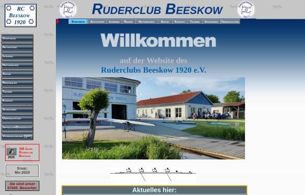 Vorschau von ruderclub-beeskow.de, Ruderclub Beeskow 1920 e.V.
