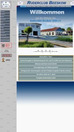 Vorschau der mobilen Webseite ruderclub-beeskow.de, Ruderclub Beeskow 1920 e.V.