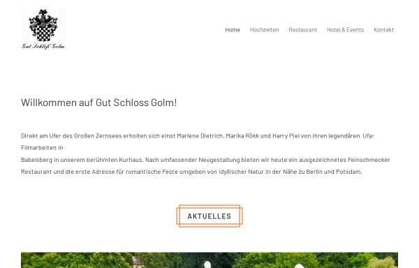Vorschau von www.gutschlossgolm.de, Gut Schloß Golm