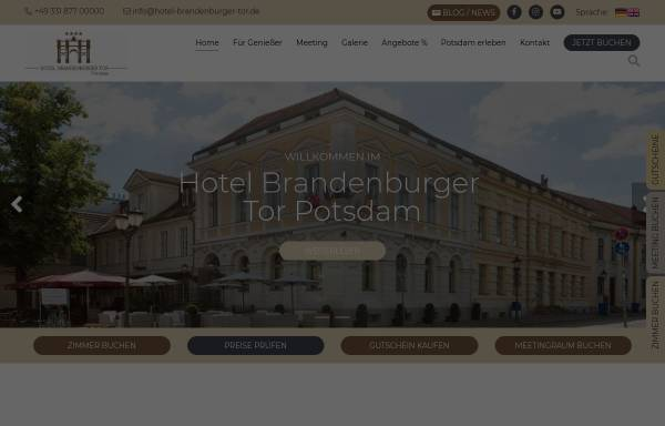 Vorschau von www.hotel-brandenburger-tor.de, Hotel Brandenburger Tor