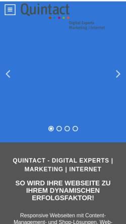 Vorschau der mobilen Webseite www.quintact.de, Quintact