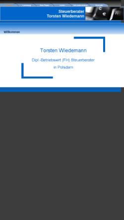 Vorschau der mobilen Webseite www.bilanzanalyse-online.de, Steuerberater Torsten Wiedemann
