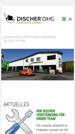 Vorschau der mobilen Webseite www.gartentechnik-discher.net, Gartentechnik Discher