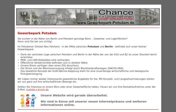 Vorschau von gewerbepark-potsdam.de, K-S Kirsch-Schweisstechnik, Remo Kirsch