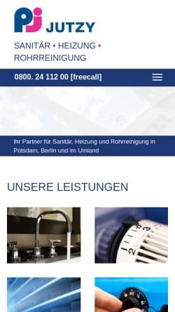 Vorschau der mobilen Webseite www.jutzy-haustechnik.de, Jutzy Haustechnik & Service GmbH