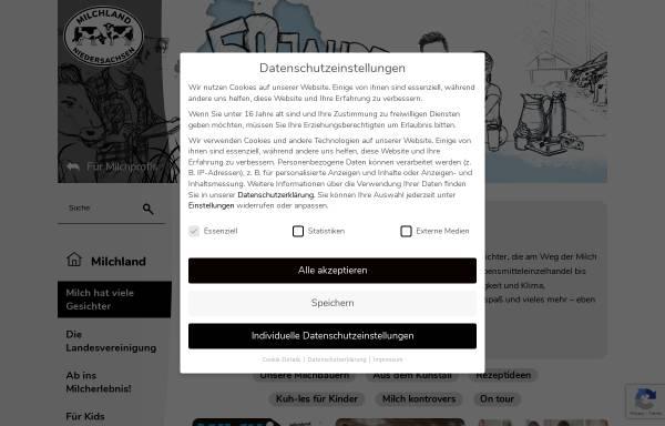 Vorschau von www.milchwirtschaft.de, Schulmilch in Niedersachsen - Landesvereinigung der Milchwirtschaft Niedersachsen e.V.