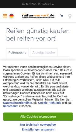 Vorschau der mobilen Webseite www.reifen-vor-ort.de, Reifen vor Ort
