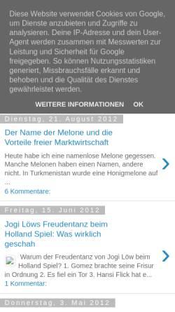 Vorschau der mobilen Webseite meinblogwalter.blogspot.de, Meinblogwalters Notizen, Matthias Lüttin