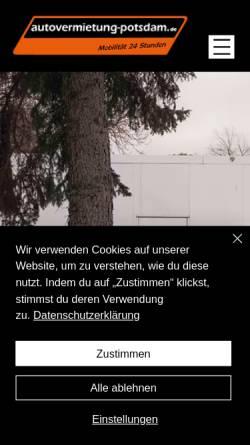 Vorschau der mobilen Webseite www.autovermietung-potsdam.de, Autovermietung Potsdam