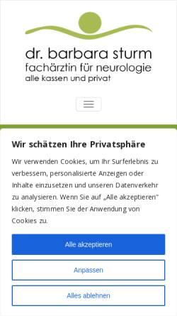 Vorschau der mobilen Webseite ordination-sturm.at, Sturm, Dr. med. Barbara