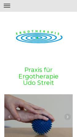 Vorschau der mobilen Webseite ergotherapie-peb.de, Praxis für Ergotherapie am Berliner Platz