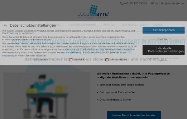 Vorschau von www.docubyte.de, DOCUBYTE® e.K.