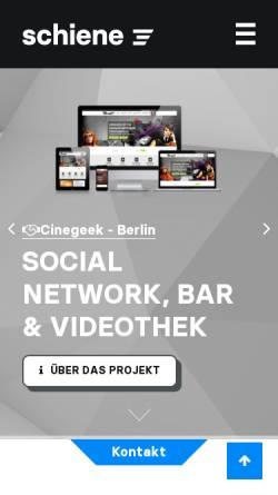 Vorschau der mobilen Webseite www.schiene3.de, Schiene3