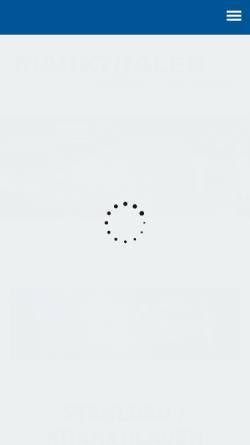 Vorschau der mobilen Webseite www.markthaler-stahlbau.de, Markthaler Stahlbau GmbH & Co. KG