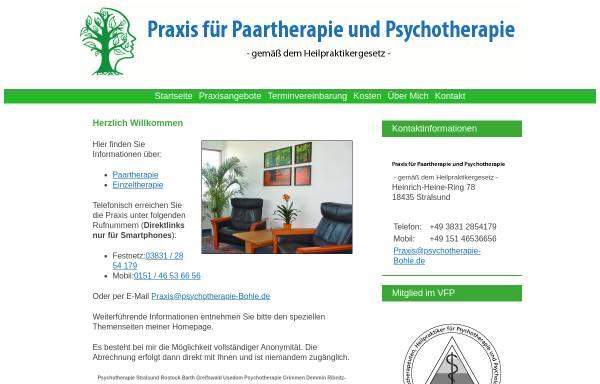 Vorschau von www.psychotherapie-bohle.de, Praxis für Psychotherapie Bohle