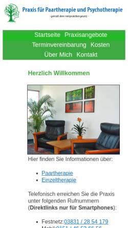 Vorschau der mobilen Webseite www.psychotherapie-bohle.de, Praxis für Psychotherapie Bohle