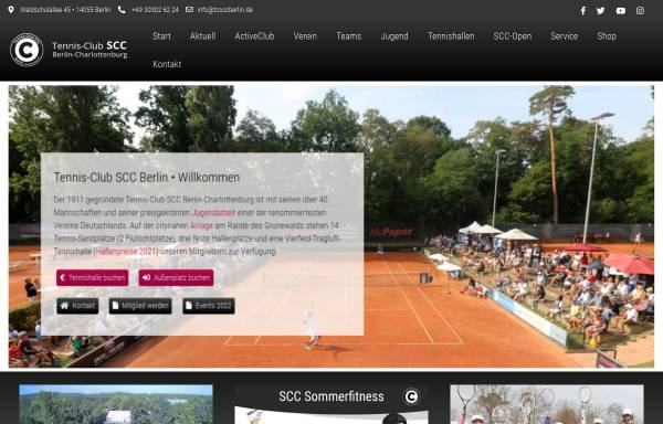 Vorschau von www.tcsccberlin.de, Tennis-Club SCC Berlin e.V.