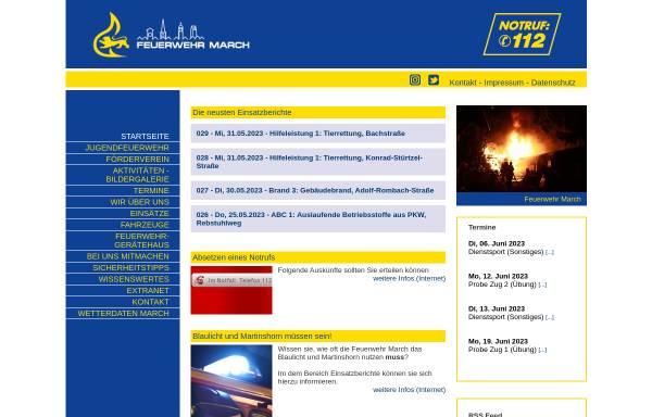Vorschau von www.feuerwehr-march.de, Freiwillige Feuerwehr March