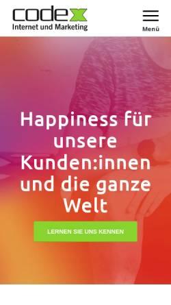 Vorschau der mobilen Webseite www.code-x.de, code-x GmbH