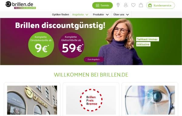 Vorschau von www.brillen.de, brillen.de KTS GmbH