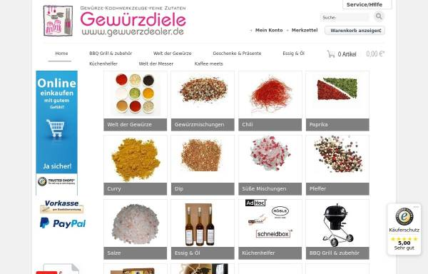 Vorschau von www.gewuerzdealer.de, Der Gewuerzdealer
