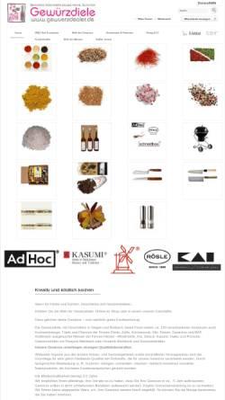 Vorschau der mobilen Webseite www.gewuerzdealer.de, Der Gewuerzdealer