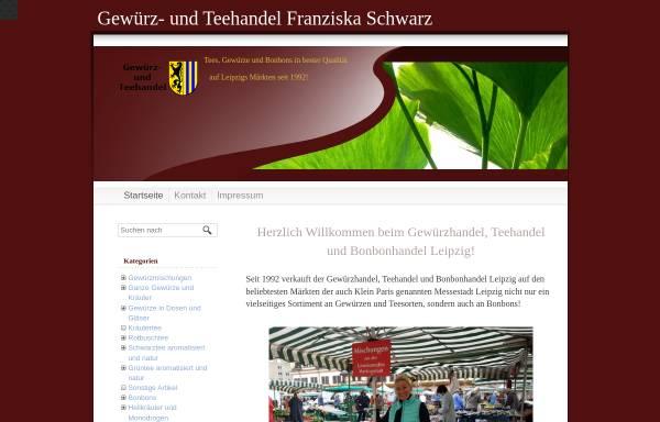 Vorschau von www.gewuerzhandel-teehandel-leipzig.de, Gewürz-und Teehandel Franziska Schwarz