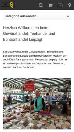 Vorschau der mobilen Webseite www.gewuerzhandel-teehandel-leipzig.de, Gewürz-und Teehandel Franziska Schwarz