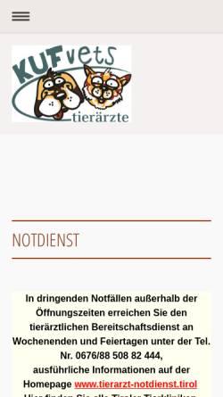 Vorschau der mobilen Webseite kufvets.at, KUFvets