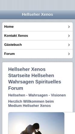 Vorschau der mobilen Webseite www.hellseher-xenos.com, Medium Vidovnjak Xenos