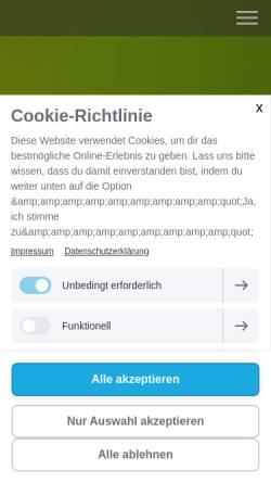 Vorschau der mobilen Webseite www.therapieweg.de, Raum für Beratung Anja de Boer