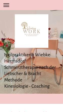 Vorschau der mobilen Webseite www.heilpraxis-hermsdorf.de, Wiebke Hermsdorf