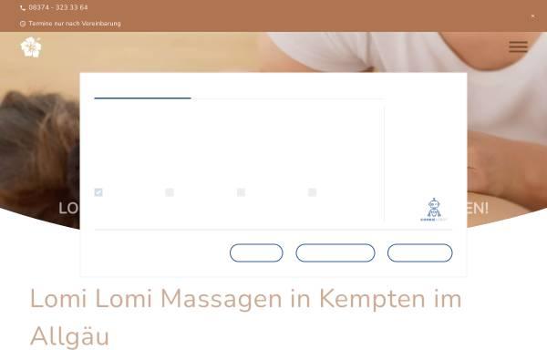 Vorschau von www.lomilomi-massagen.de, Lomi Lomi Oluea