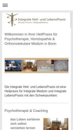 Vorschau der mobilen Webseite www.integrale-heil-und-lebenspraxis.com, Nicola Hirsch