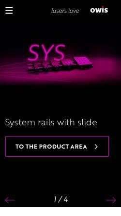 Vorschau der mobilen Webseite www.owis.eu, OWIS GmbH