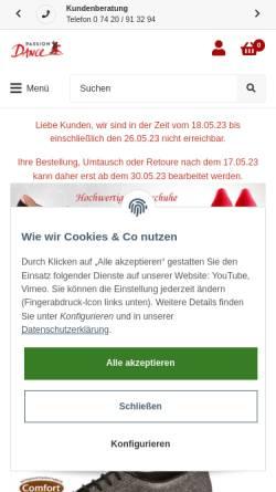 Vorschau der mobilen Webseite www.passion-dance.de, Passion-Dance - Thomas Weigold