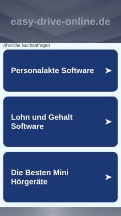 Vorschau der mobilen Webseite easy-drive-online.de, Fahrschule Easy Drive UG