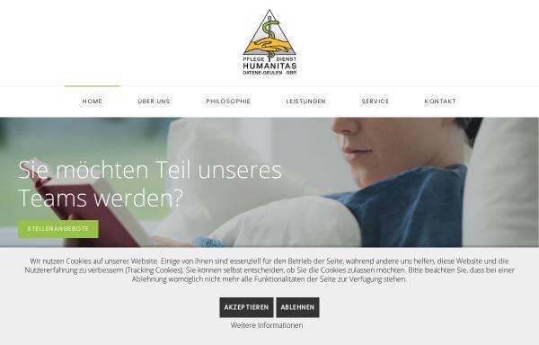 Vorschau von www.humanitas-aachen.de, Pflegedienst Humanitas Aachen