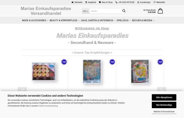 Vorschau von www.marias-einkaufsparadies.de, Maria Rodriguez-Schmitz & Dirk Skowronek GbR (Marias-Einkaufsparadies.de)