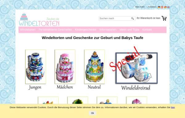 Vorschau von www.geschenke-zur-geburt-und-taufe.de, Geschenke zur Geburt und zur Taufe