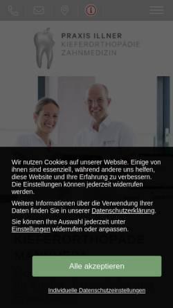 Vorschau der mobilen Webseite www.kieferorthopaedie-mannheim.com, Michael und Ulricke Illner Kieferorthopäde